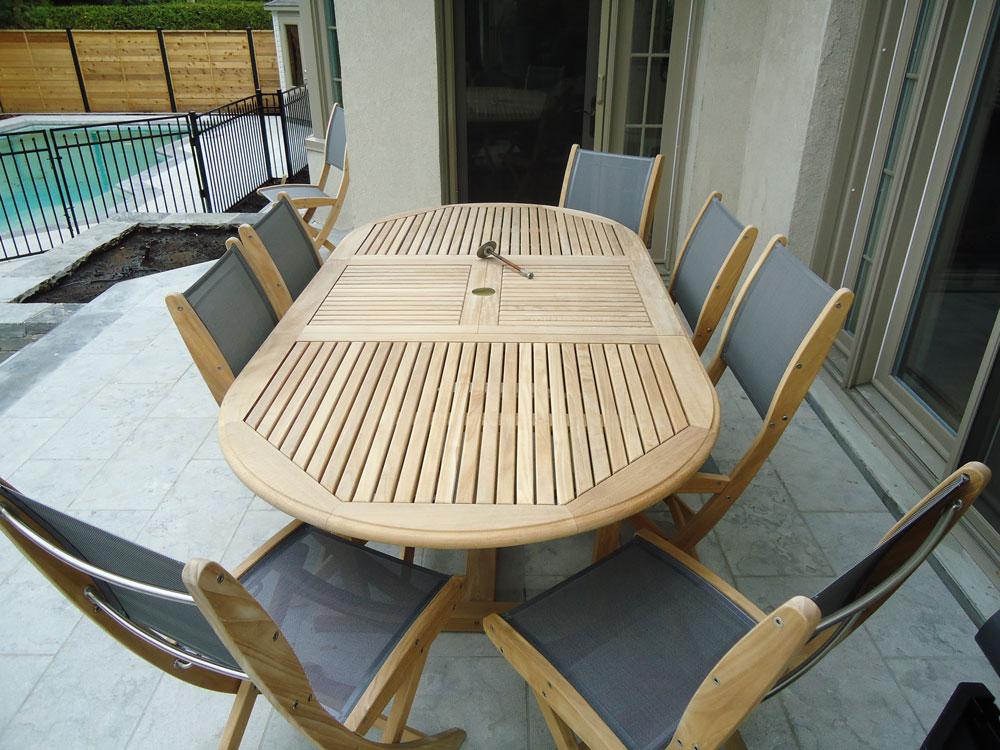 Mobilier teck 10 beau patio for Mobilier teck